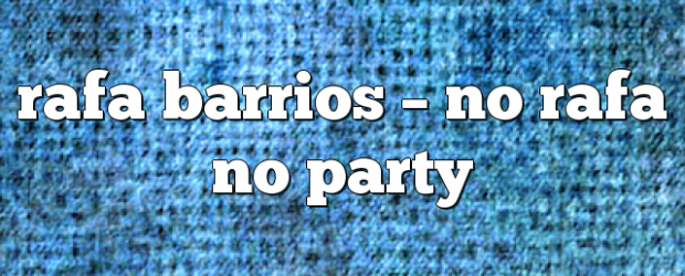 Airs on May 19, 2018 at 08:00PM No Rafa No Party with Rafa Barrios. Sunday at 11am EST you may also like: No related posts.